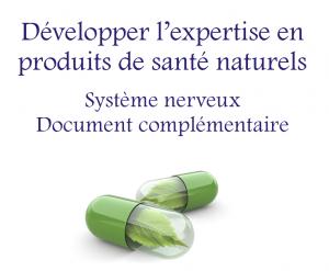 Développer l'expertise en produits de santé naturels - document complémentaire